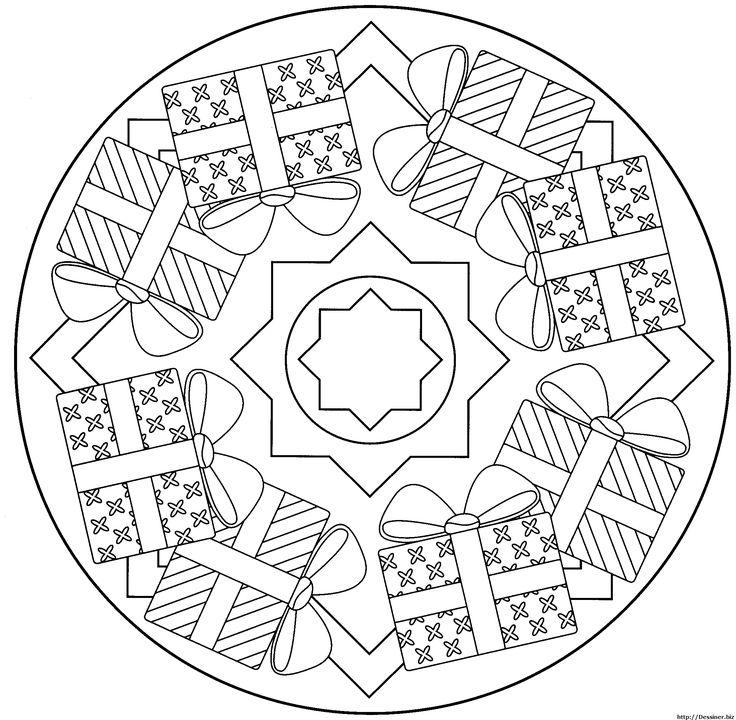 mandala noel – Ausmalbilder für kinder                                                                                                                                                                                 More