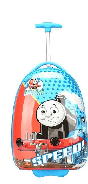 16'' 18'' Boys Thomas Train Design Luggage/Children Tomas School Bags With Wheels/Kids Cartoon Travel Suitcase Trolley Bags