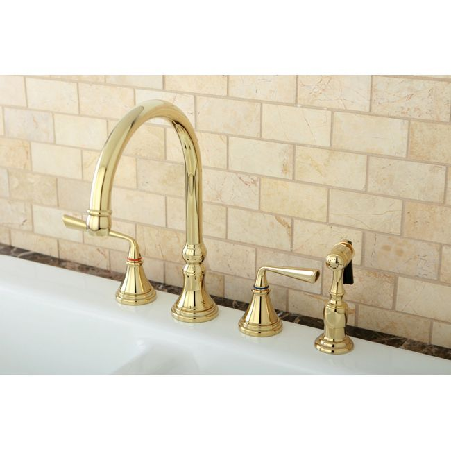 Update Your Kitchen With This Classic Kitchen Faucet Constructed Of Solid  Brass. This Double