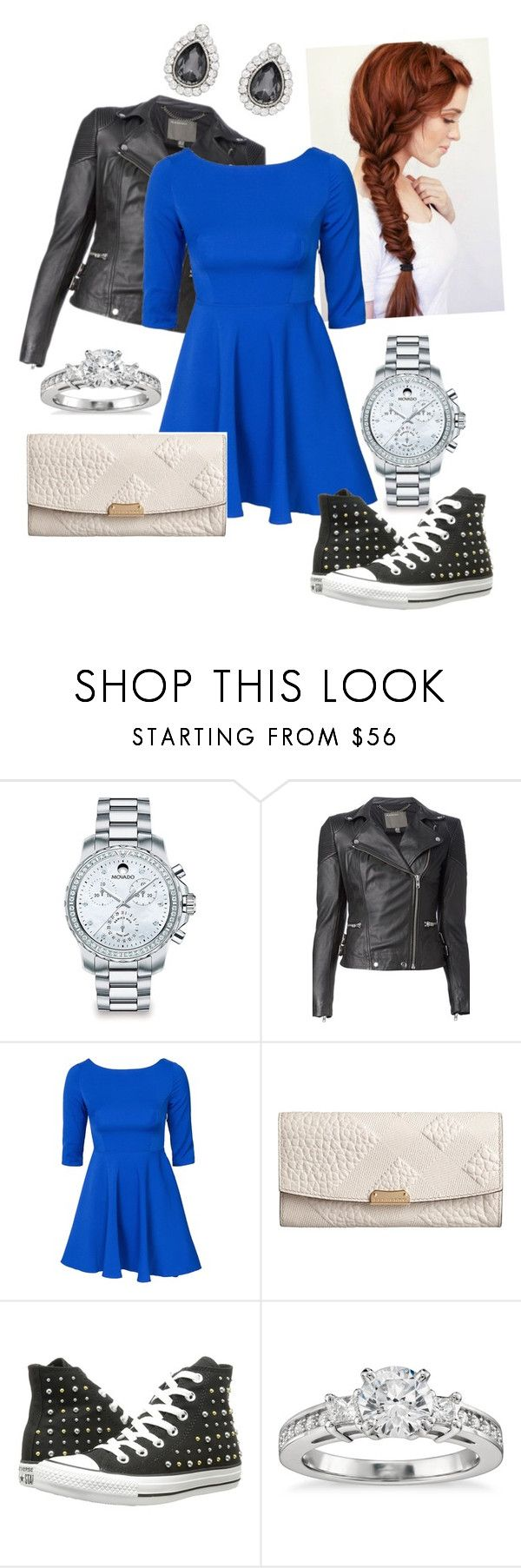 """""""Shopping"""" by llamallamaduckgirl ❤ liked on Polyvore featuring Movado, Ultimate, MuuBaa, Glamorous, Burberry, Converse, Blue Nile and Forever New"""