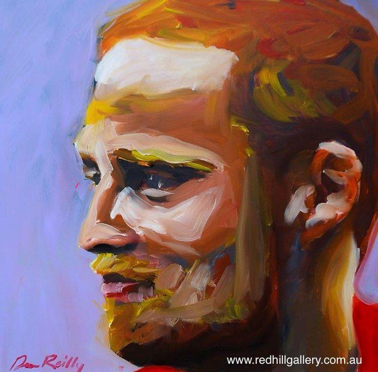 Dean Reilly 'Vincentvangoes' 42x42cm.  61 Musgrave Road, Red Hill Brisbane, QLD, Australia. art@redhillgallery.com.au