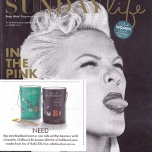 Our Chalkboard Paint Kits featured as a must have product in Sunday Life 23 Sept 2012