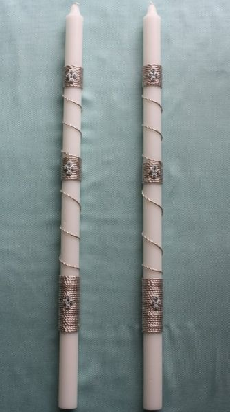 Greek Wedding Shop - Champagane Rope Cord Lambada. Wedding Candle as decoration…