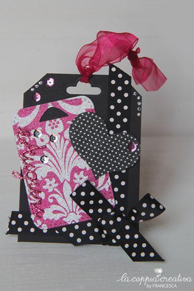 Tag nero-pink - Francesca