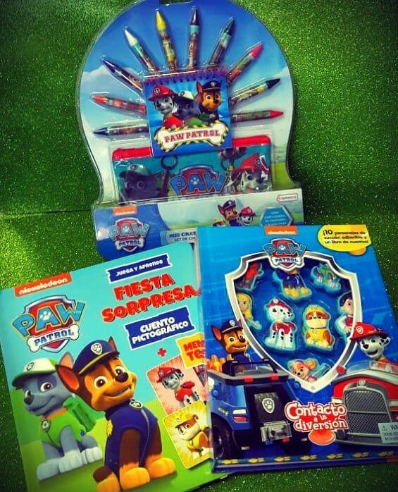 Paw Patrol Todo De La Patrulla Canina Kit De Pinturitas Y Láminas Para Colorear Libro Imantado Para Jugar Con Los Muñe Paw Patrol Frosted Flakes Cereal Box Paw