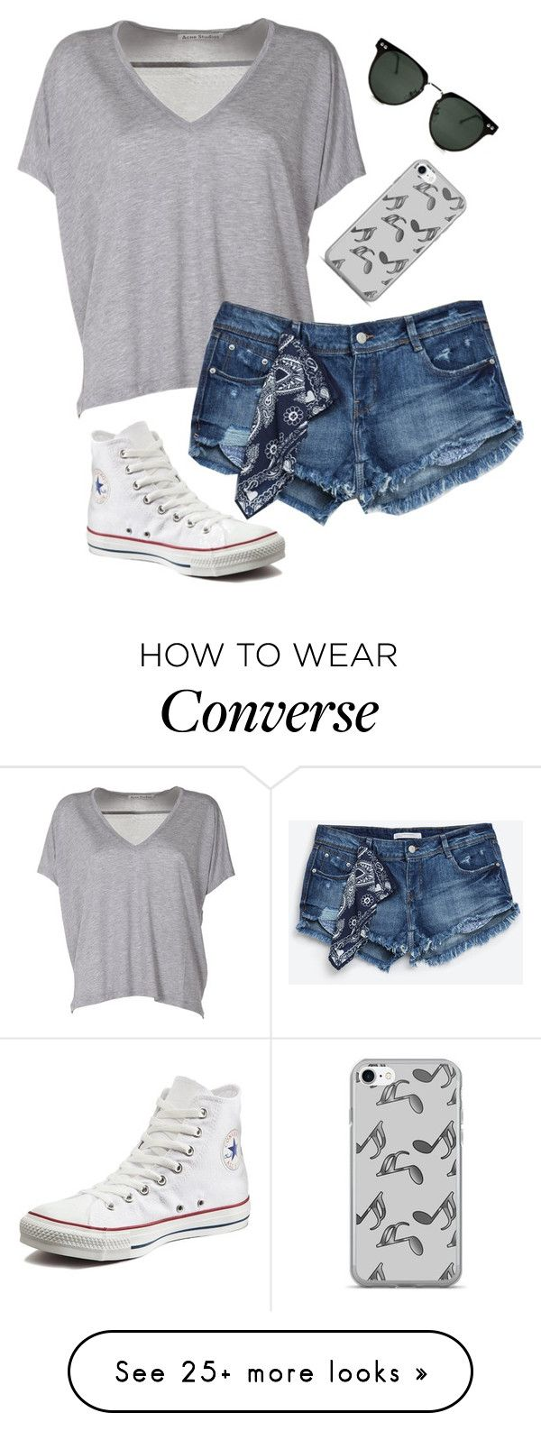 """Simple"" by clouded4ever on Polyvore featuring Acne Studios, Zara, Converse, Music Notes and Spitfire"