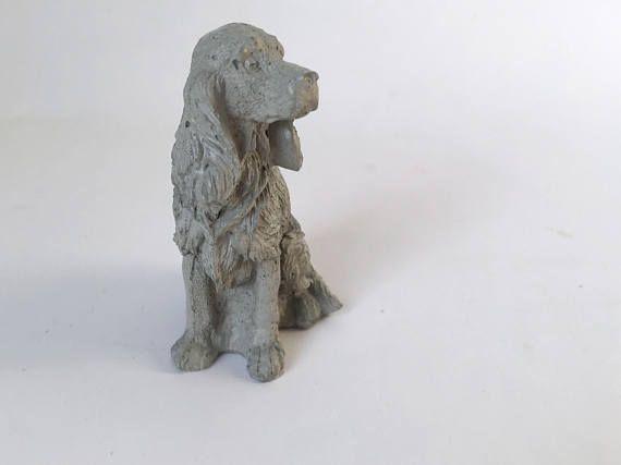 Silicone Mold Cocker Spaniel dog mould concrete plaster decor statue sculpture french home decor desk