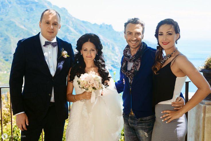 Natalia Manukovskaya with Armando Malafronte and couple Olga and Ivan on wedding in Ravello❤️