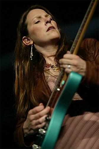 Susan Tedeschi, good blues guitar (but not THE best)