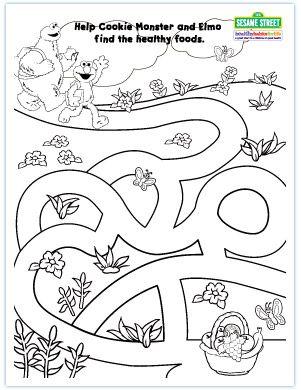 Download PDF of Elmo Maze Game
