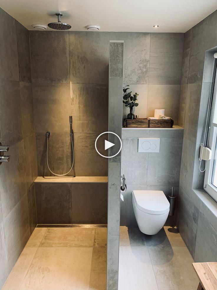 Badezimmer voll moderne Fluten Betonoptik und Sanitär ...