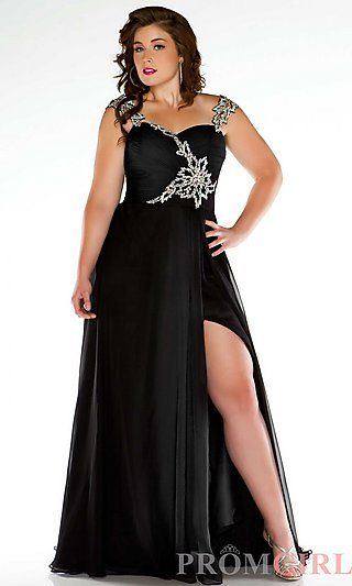 Long Sweetheart Plus Size Gown Comes in Red or black Sizes 14w to 30w