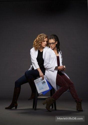 Orphan Black - Season 2 promo shot of Tatiana Maslany & Evelyne Brochu