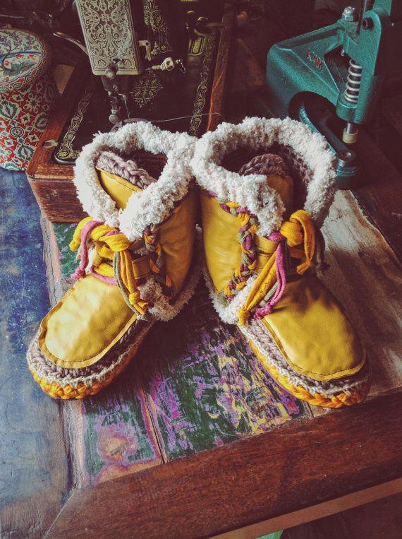 SNOWwhite goat Leather MOCASSINS moccasins by Handmadeinibiza