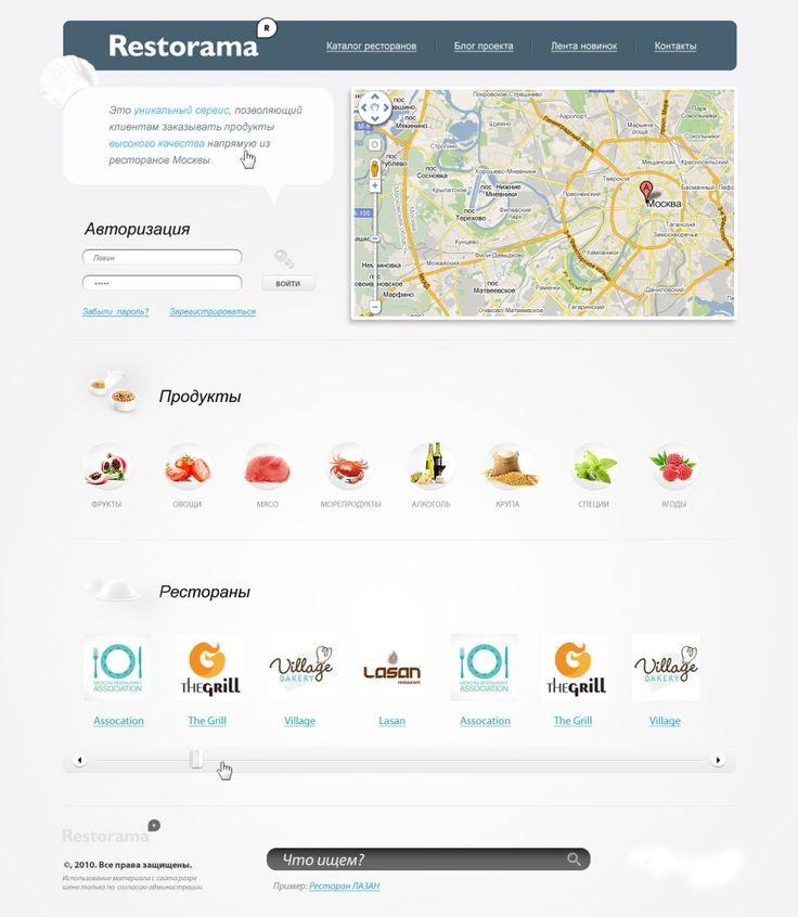 Website Design for Restorama
