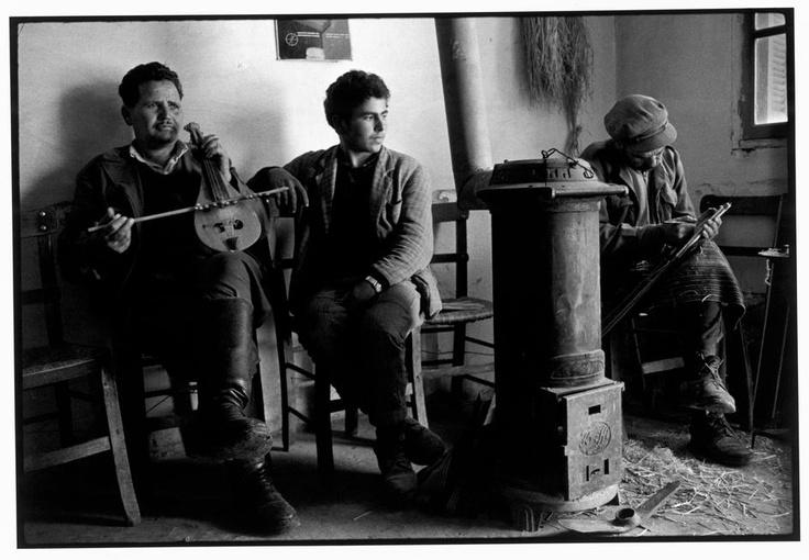 """Constantine Manos. Greece. Crete. 1964. Playing the Iyra. """"A Greek Portfolio"""" p.60. © Costa Manos/Magnum Photos"""