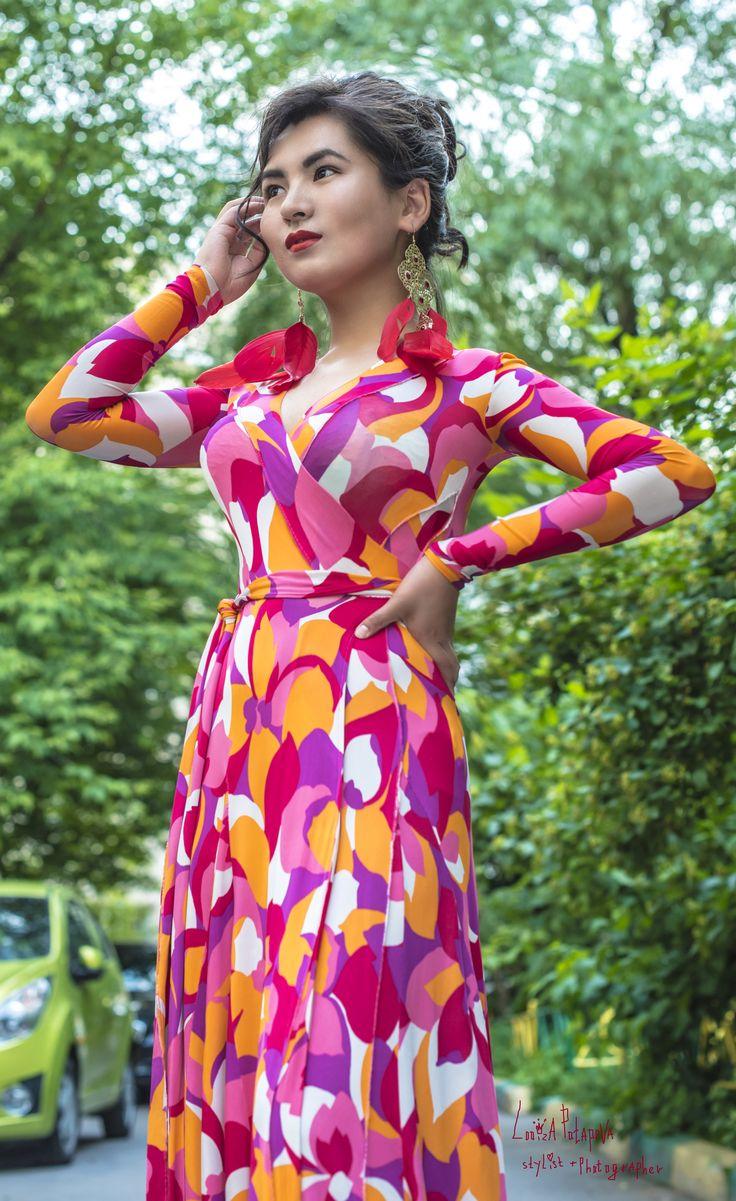 модель: БАГДАЙЫМ (что означает - вечное счастье) Фотограф/стилист и дизайнер платья Я - LOOIZA POTAPOVA