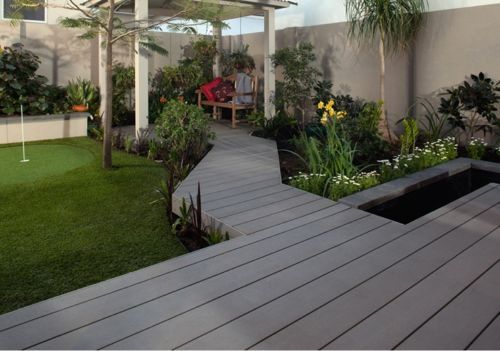 Wood composite decking boards Dark Slate Grey. From Green Shop Gomshall, 01483 600 275