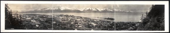 """Seward, Alaska, 1915  On March 30, 1867, Secretary of State William H. Seward agreed to purchase Alaska from Russia for 7.2 million dollars. Critics attacked Seward for the secrecy surrounding the deal, which came to be known as """"Seward's folly."""""""