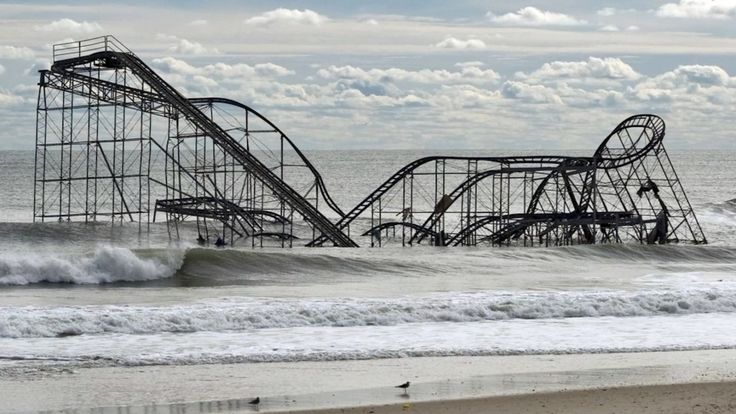 After Hurricane Sandy, N.J. roller coaster back in action #RollerCoaster #NewJersey #ローラーコースター #ニュージャージー