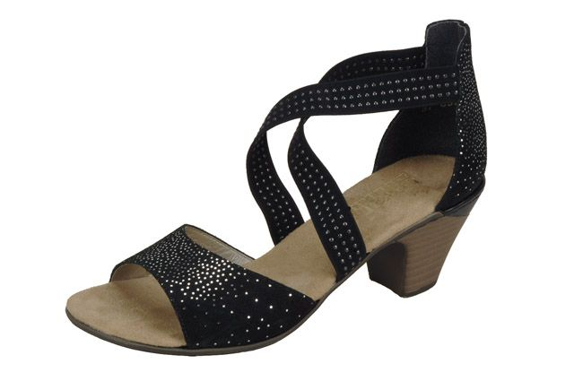 Elegant black strappy sandal from Rieker's S/S 15 collection