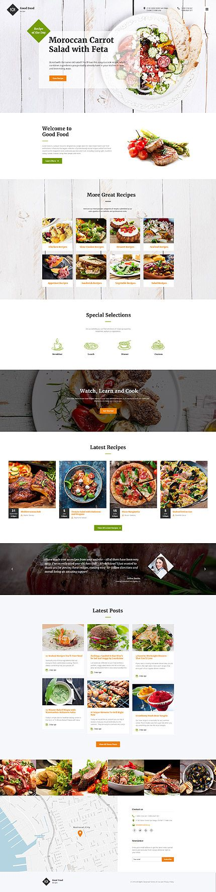 Healthy Food & Nutrition #website #template. #themes #business #responsive #websitethemes