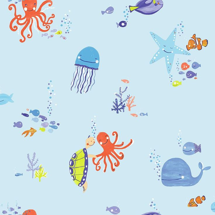Arthouse Underwater Fun 10.5m x 53cm Wallpaper Roll & Reviews | Wayfair.co.uk