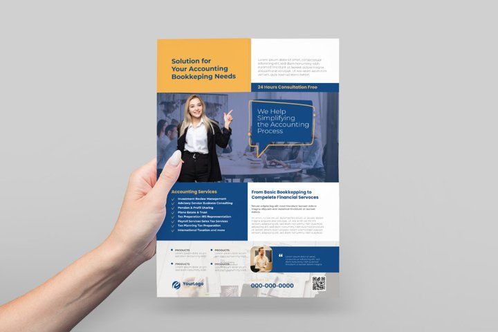 Accounting Flyer Design 886844 Flyers Design Bundles In 2021 Flyer Design Flyer Business Card Logo