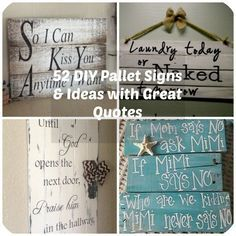Its no surprise that pallet signs have become super popular with crafters and DIY fanatics. This is a projectthat beginners can feel confident about trying & advanced DIYerscan stretch their skills with fancy lettering and unique color combinations. But one of the factors that truly makes your pallet sign stand out is choosing a great quote. So we've found you 52 terrific & fun pallet sign ideas, complete with quote ideas perfect for your next craft project. Whether you want to make a…