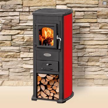 Habo houtkachel BL6.5 6,5 kW rood voor € 369,-. Ook geschikt voor buiten onder een veranda.