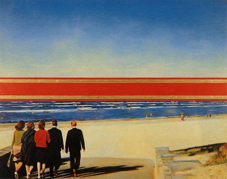 Эрик Булатов.Красный горизонт. 1971-1972
