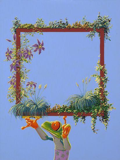 Planten /  Plants -   40 x 60 cm -  acrylverf op doek /  acrylic on canvas -  2015 -    verkocht / sold