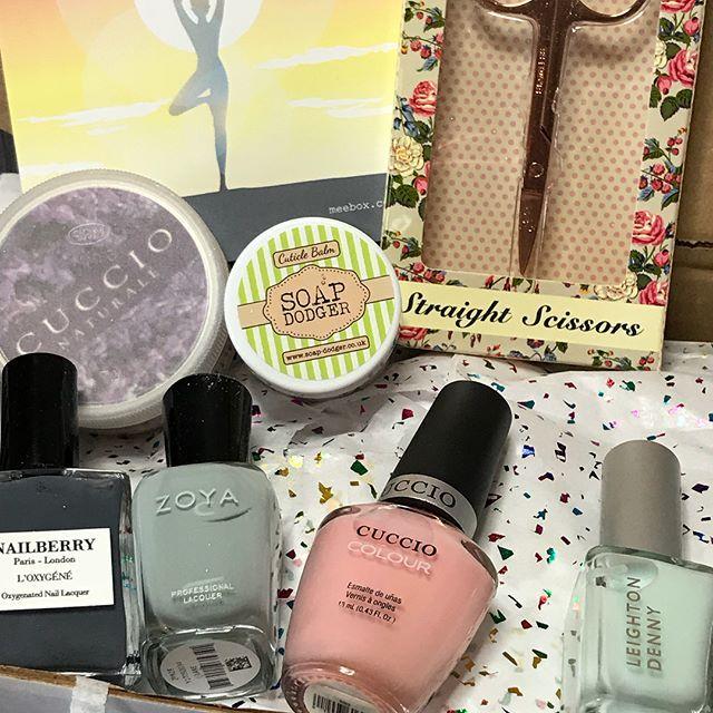 Have a look at what items came in January's @meeboxuk #unboxing #nailpolish #nailmail #nailsbylyn #nalanails #nailtech #naillife #swatch #nails #meebox