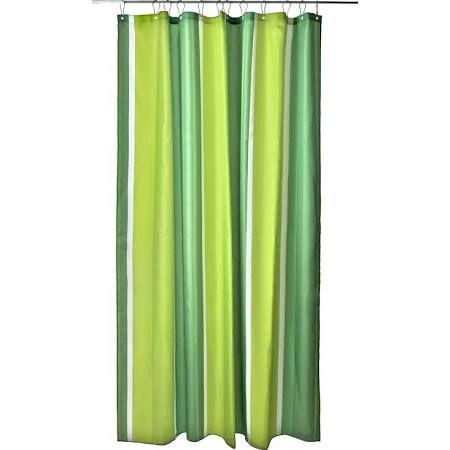 zone denmark shower curtain striped lime green