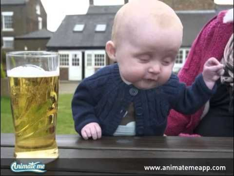 Happy St. Patricks Day! Funny 'drunk' baby, made with the FREE Animate Me app for iPhone and iPad.  Create your own funny videos with any photo using Animate Me.    www.animatemeapp.com #animatemeapp #freeapp #funapp #appstore #funnyapp #photoapp #animation #animateme #talkingphotos #animatedphotos