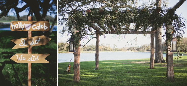 Wedding Sign And Trellis For Outdoor Rustic Wedding