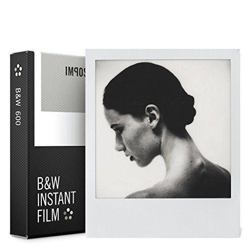 Impossible – 4516 – Nouveau : pellicule N&B pour Appareil Polaroid type P600 – cadre blanc – 8 feuilles par boîte: Price:15.29Pack de 8…