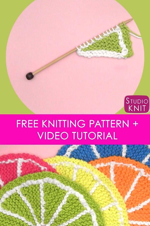 Wie man Frucht-Zitrusscheiben strickt   – Studio Knit