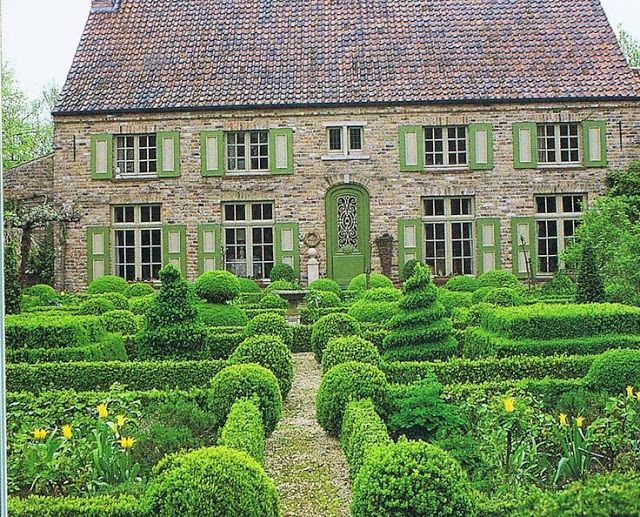 Very pretty topiary garden in France.
