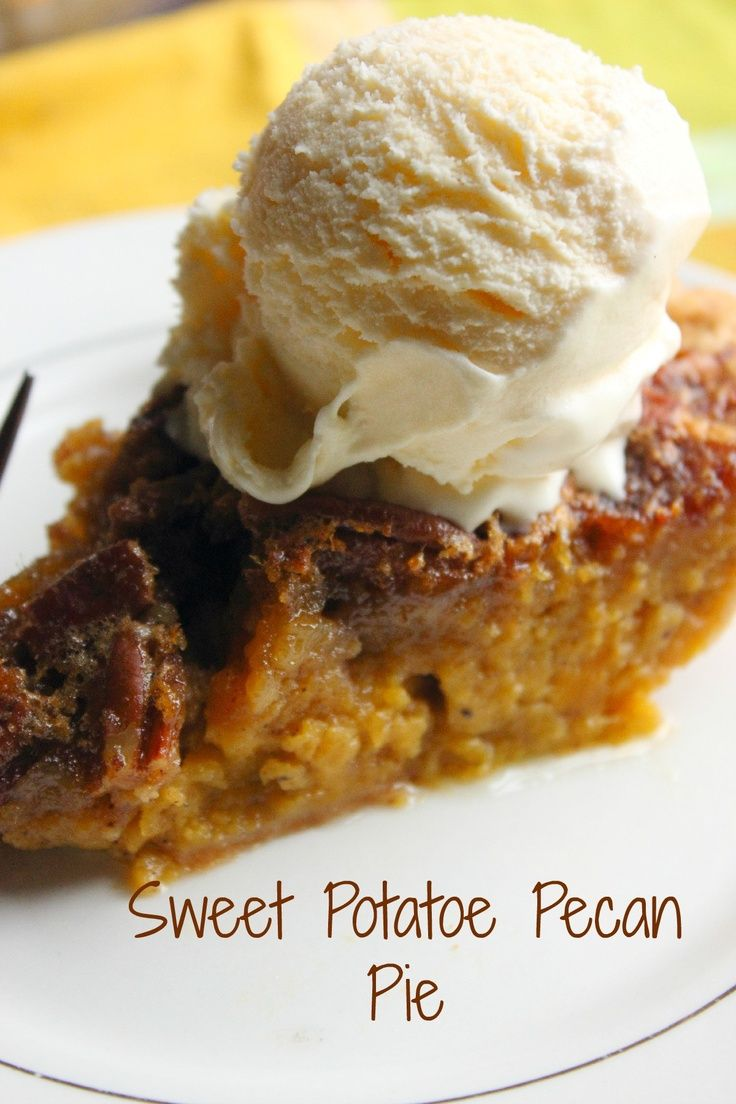 Sweet Potato Pecan Pie - So SWEET! Perfect ending to your Thanksgiving ...