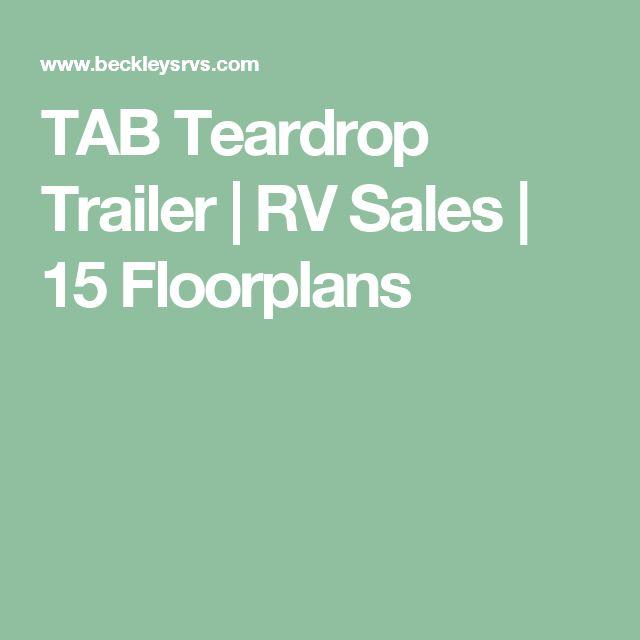 TAB Teardrop Trailer | RV Sales | 15 Floorplans