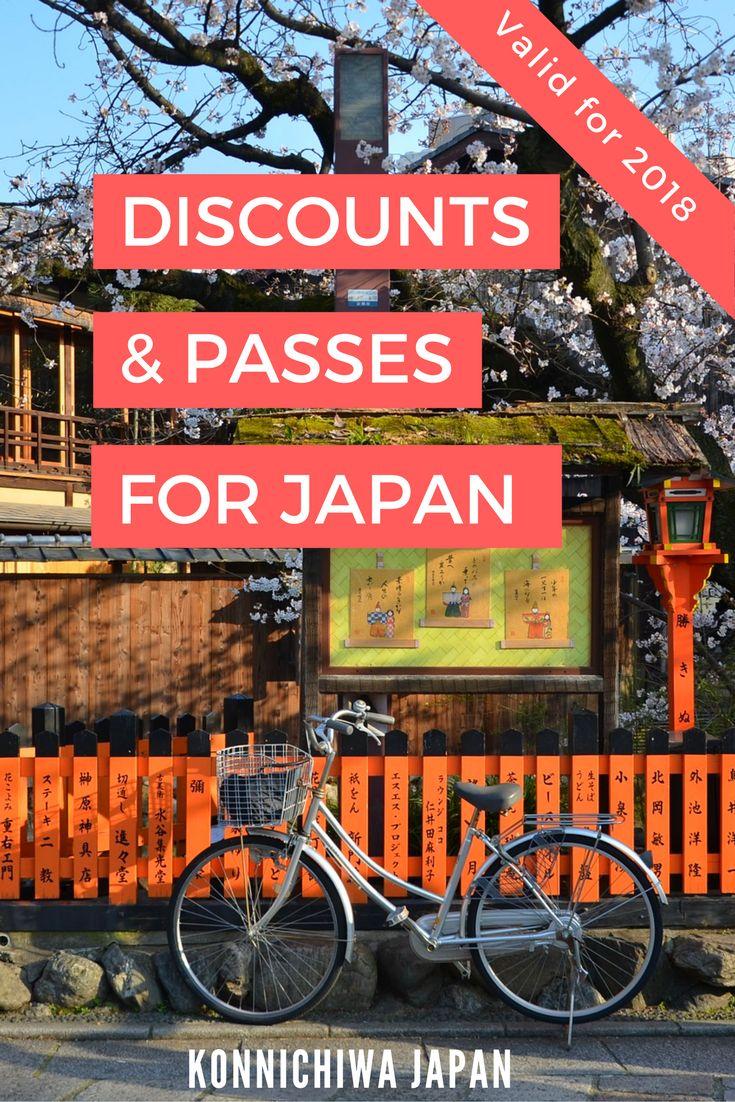 Discounts & Passes for Japan Pin 1