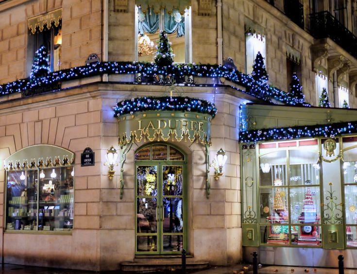 Ladurée Macaron Christmas Trees at Intercontinental Paris Le Grand Hotel