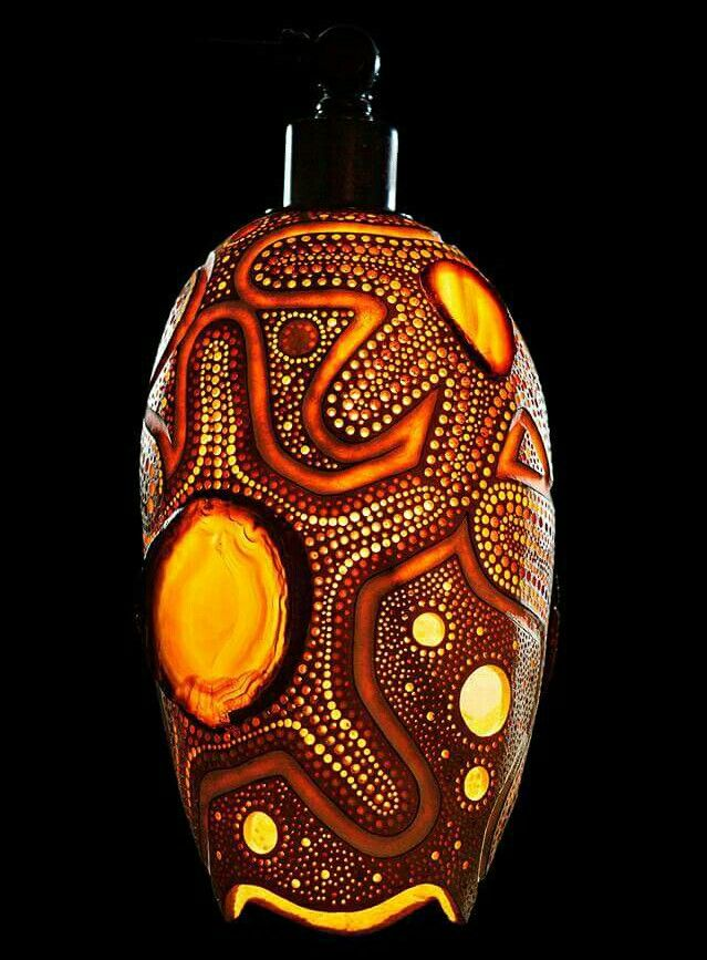 17 Best Images About R Poole Designs Gourd Lamps Gourd