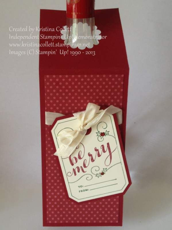 Stampin' Up!, Christmas, Wine bottle tag
