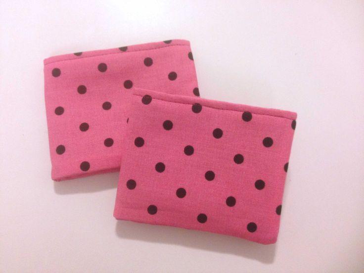 Pink and Black Polka Dot Girls Bi Fold Wallet with Velcro by BethsCakeKitShop on Etsy