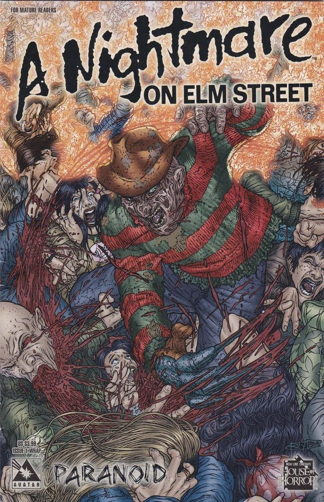 A NIGHTMARE ON ELM STREET #1 PARANOID AVATAR COMICS KRUEGER  VARIANT HOT LIMITED