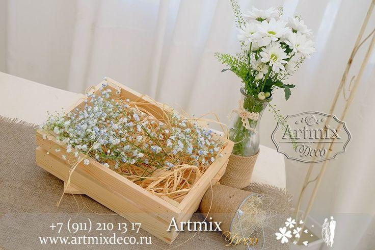 Украшение винного столика в стиле Рустик. на свадебном торжестве