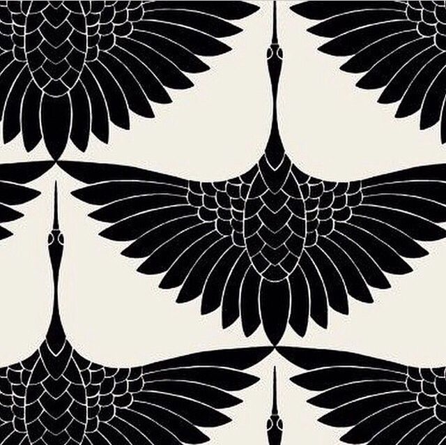 #TrinaTurk #Crane pattern, 2011.  By Carrie Hansen?