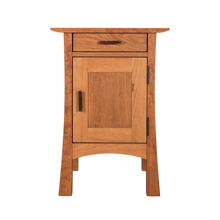 Contemporary Craftsman 1-Drawer Nightstand with Door